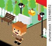 cartoon character life in front ... | Shutterstock . vector #531988552