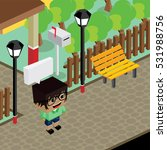 cartoon character life in front ... | Shutterstock . vector #531988756