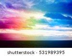 atlantic ocean with dramatic... | Shutterstock . vector #531989395