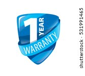 10 years warranty  vector logo  | Shutterstock .eps vector #531991465