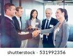portrait of businesspeople...   Shutterstock . vector #531992356