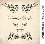 vintage frame   Shutterstock .eps vector #53199649