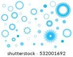 crystallized frozen circles...   Shutterstock .eps vector #532001692
