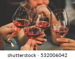 people drink wine enjoy to... | Shutterstock . vector #532006042
