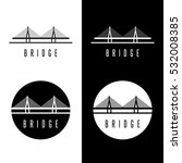 abstract bridge construction... | Shutterstock .eps vector #532008385