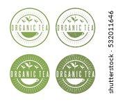 leaves of organic tea vector... | Shutterstock .eps vector #532011646