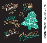 xmas and ny stickers and... | Shutterstock .eps vector #532012678