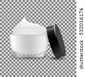 open cream container isolated.... | Shutterstock .eps vector #532016176