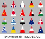 firs with flags of different... | Shutterstock .eps vector #532016722