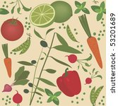 seamless vegetable pattern ... | Shutterstock .eps vector #53201689