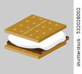 an image of a smores treat. | Shutterstock .eps vector #532028002