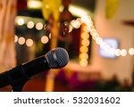close up of microphone in... | Shutterstock . vector #532031602