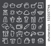 set of modern thin line icons... | Shutterstock . vector #532037746