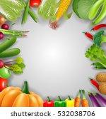 vegetables on a wooden... | Shutterstock .eps vector #532038706
