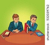 two boys in school  bulling ... | Shutterstock .eps vector #532039762