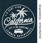 california surf typography for... | Shutterstock .eps vector #532043926