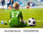 young soccer football player.... | Shutterstock . vector #532046926