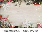 christmas background on the... | Shutterstock . vector #532049722