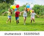 group of happy children...   Shutterstock . vector #532050565
