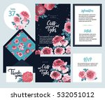 set of templates  for wedding... | Shutterstock .eps vector #532051012