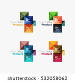 set of abstract square...   Shutterstock .eps vector #532058062