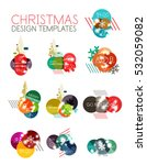 vector christmas label or price ... | Shutterstock .eps vector #532059082