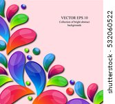 abstract colorful arc drop... | Shutterstock .eps vector #532060522