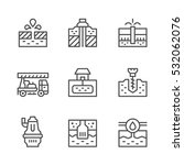 set line icons of water bore | Shutterstock .eps vector #532062076