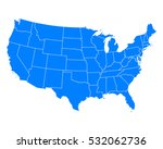 map of usa | Shutterstock .eps vector #532062736