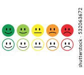 five smile icon emotions... | Shutterstock . vector #532063672