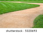 green grass and curved sandy... | Shutterstock . vector #5320693