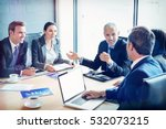businesspeople discussing... | Shutterstock . vector #532073215