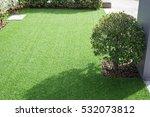 pathway in garden with green... | Shutterstock . vector #532073812