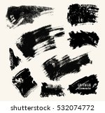 vector set of black brush...