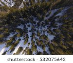 winter landscape aerial | Shutterstock . vector #532075642