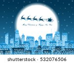 merry christmas and happy new... | Shutterstock .eps vector #532076506