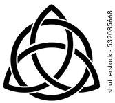 vector illustration of a celtic ... | Shutterstock .eps vector #532085668