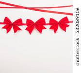 decorative red ribbon and three ... | Shutterstock . vector #532089106