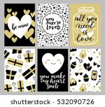 set of greeting cards for... | Shutterstock .eps vector #532090726