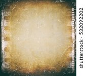 Small photo of Film strip background, vintage texture