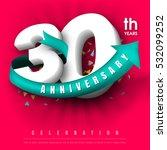 anniversary emblems 30... | Shutterstock .eps vector #532099252