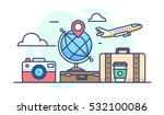 illustration of travel. globe... | Shutterstock .eps vector #532100086