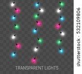 christmas lights. glowing... | Shutterstock .eps vector #532109806