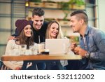 group of friends at the cafe... | Shutterstock . vector #532112002