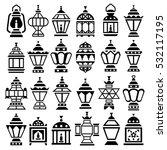 set of 24 ramadan lanterns... | Shutterstock .eps vector #532117195