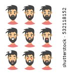 set of male emoji characters.... | Shutterstock .eps vector #532118152