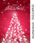 merry christmas greeting card... | Shutterstock .eps vector #532118932