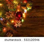 christmas light border | Shutterstock . vector #532120546