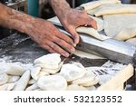 chef making dough pastry... | Shutterstock . vector #532123552