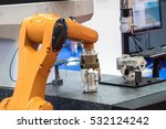 industrial robot with cnc... | Shutterstock . vector #532124242